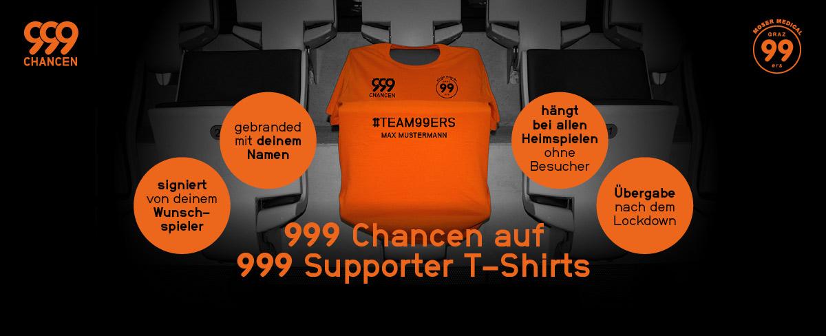 T-Shirt Aktion MoserMedicals Graz99ers